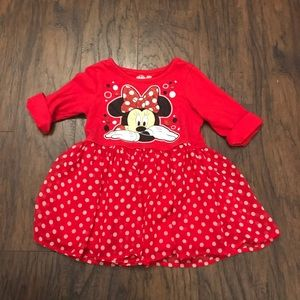 Disney Minnie Mouse Girls Red Top Shirt Size 5T